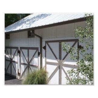 Puertas de granero escénicas fotografía
