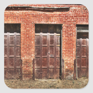 Puertas de granero pegatina cuadrada