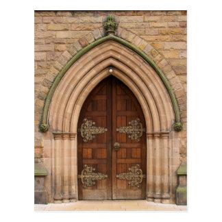 Puertas de la iglesia del vintage - Reino Unido - Tarjetas Postales