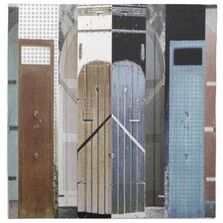 Puertas de la isla servilleta imprimida