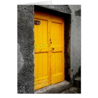 Puertas de la tarjeta de nota de Cinque Terre