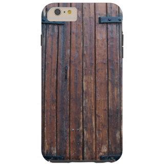 Puertas de madera viejas de Brown con las ayudas Funda Resistente iPhone 6 Plus