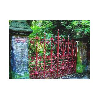 Puertas del campo de la fresa lienzo envuelto para galerias