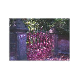 Puertas del campo de la fresa lienzo envuelto para galerías