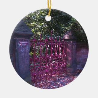 Puertas del campo de la fresa, Liverpool Reino Adorno Redondo De Cerámica