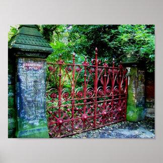 Puertas del campo de la fresa, Liverpool, Reino Poster