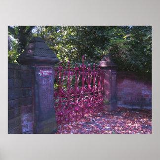 Puertas del campo de la fresa, Liverpool Reino Póster