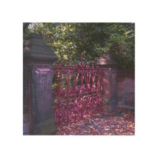 Puertas del campo de la fresa, Liverpool, Reino Impresiones En Madera