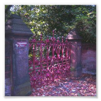 Puertas del campo de la fresa fotografías