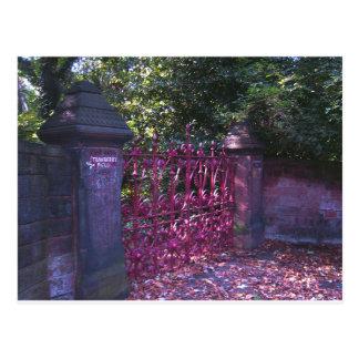 Puertas del campo de la fresa tarjetas postales