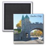 Puertas del castillo de la ciudad de Quebec Canadá Iman Para Frigorífico