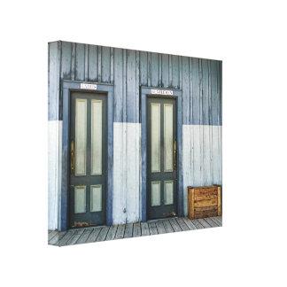 Puertas del cuarto de baño impresiones en lona