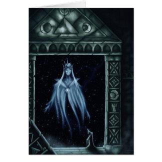 puertas del greetingcard de la fantasía de la tarjeta de felicitación