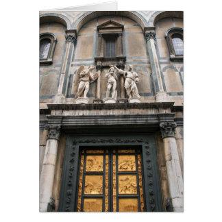 Puertas del paraíso tarjeta de felicitación