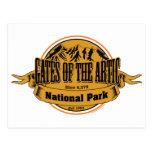 Puertas del parque nacional ártico, Alaska Tarjeta Postal