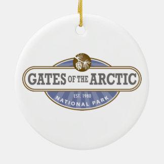 Puertas del parque nacional ártico adorno para reyes