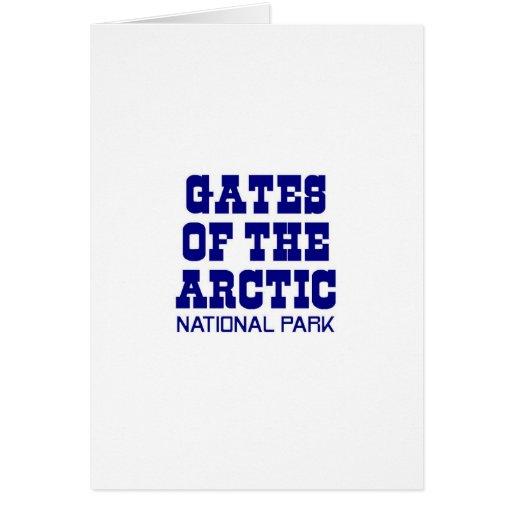 Puertas del parque nacional ártico felicitación
