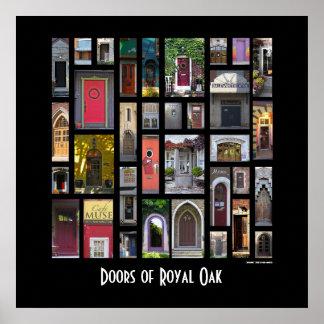 Puertas del poster real del roble