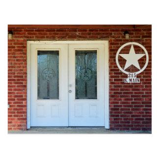 Puertas dobles de la estrella de Tejas Postal