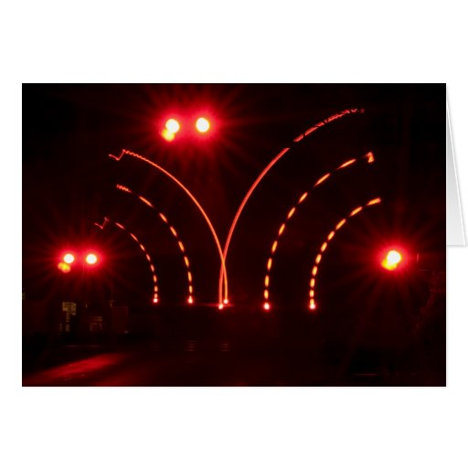 Puertas en la noche tarjeta de felicitación