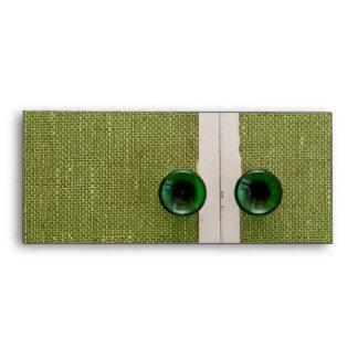 Puertas verdes retras sobres