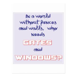 Puertas y ventanas - chistes del ordenador tarjetas postales