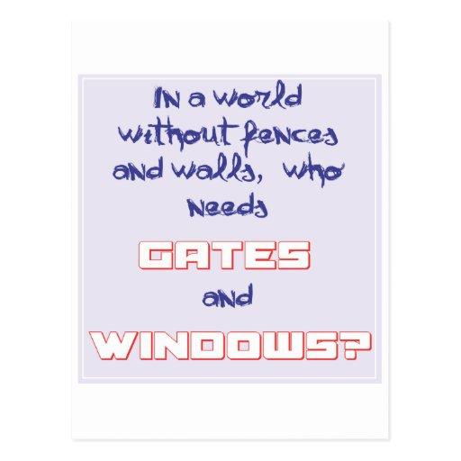 Puertas y ventanas - chistes del ordenador postales