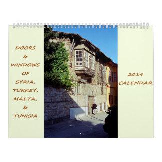 Puertas y Windows de Siria, de Turquía, de Malta y Calendario
