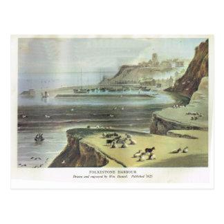 Puerto 1823 de Folkestone Tarjetas Postales