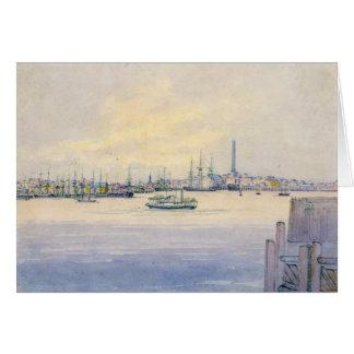 Puerto 1846 de Boston Tarjeta De Felicitación