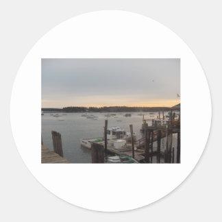 Puerto (amistad, Maine) Pegatina Redonda