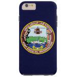 """Puerto Ángeles """"azules marinos """" de la estación Funda Resistente iPhone 6 Plus"""