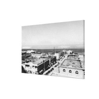 Puerto Ángeles, opinión de la ciudad de WA y fotog Impresión En Lienzo