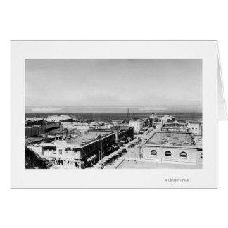 Puerto Ángeles, opinión de la ciudad de WA y fotog Tarjeta De Felicitación
