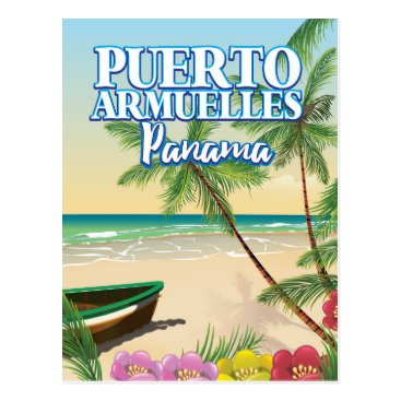 Beach Themed Puerto Armuelles Panama Beach travel poster Postcard