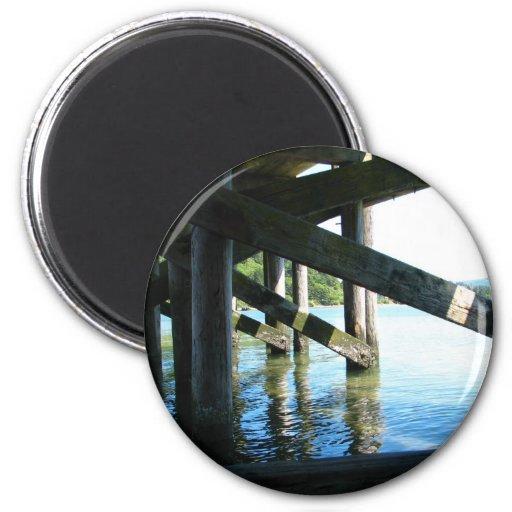 Puerto azul imán redondo 5 cm