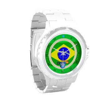 Puerto brasileño Richman del Brasil de la bandera  Reloj De Mano