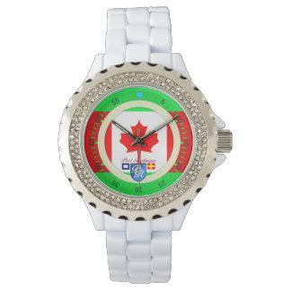 Puerto canadiense Richman de Canadá de la bandera Relojes De Mano