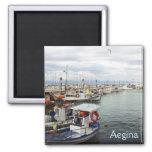 Puerto de Aegina Imán De Frigorífico