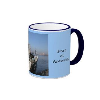 Puerto de Amberes 1 Taza De Café
