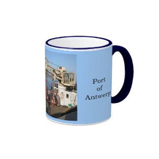 Puerto de Amberes 2 Tazas De Café