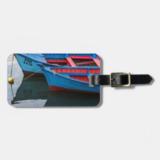 Puerto de Angelmo, barcos de pesca Etiquetas De Maletas