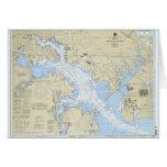 Puerto de Baltimore del _de la tarjeta de Christma