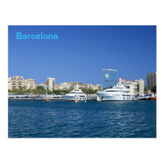Puerto de Barcelona Tarjeta Postal