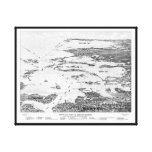 Puerto de Boston al mapa temprano de los 1900s de  Lona Estirada Galerias