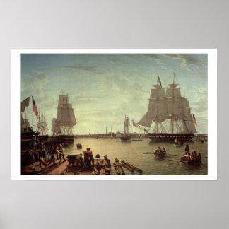 Puerto de Boston del muelle de la constitución Posters