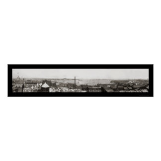 Puerto de Boston, foto 1912 del mA Impresiones