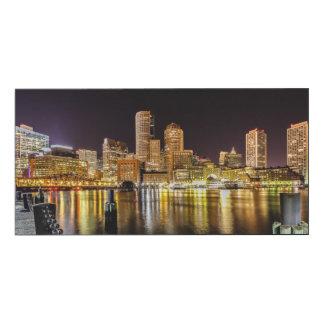 Puerto de Boston Impresión En Madera