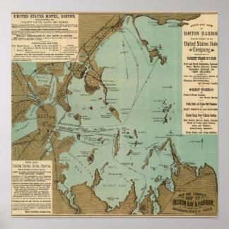 Puerto de Boston Poster