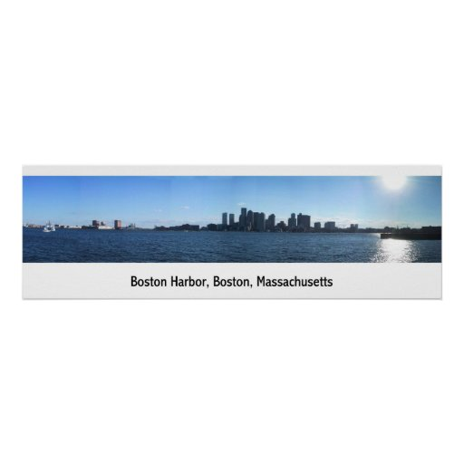 Puerto de Boston Póster